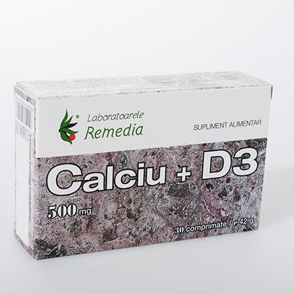 Calciu + D3 500 mg 30 cpr