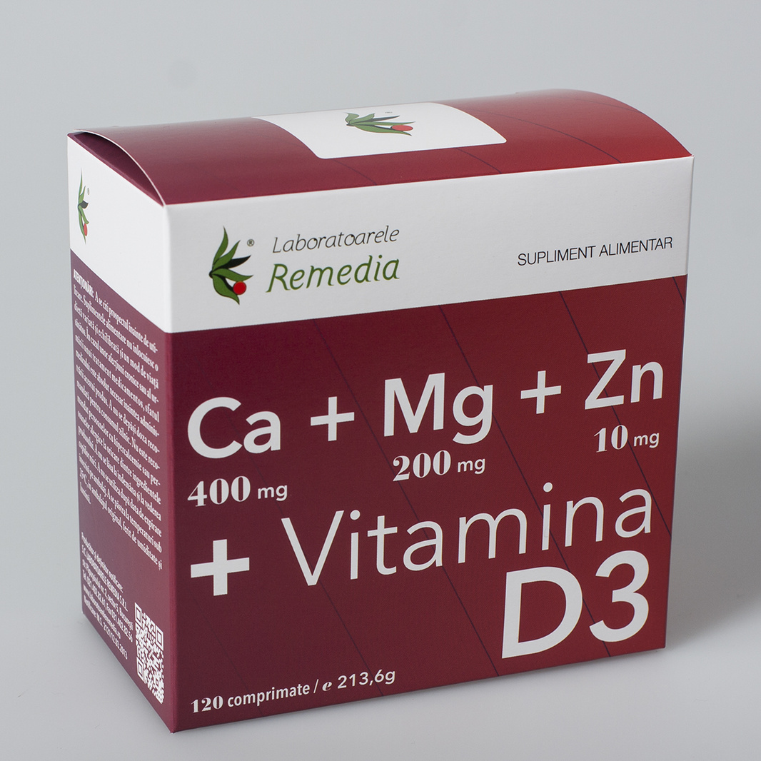 Ca + Mg + Zn + Vitamina D3  120 cpr