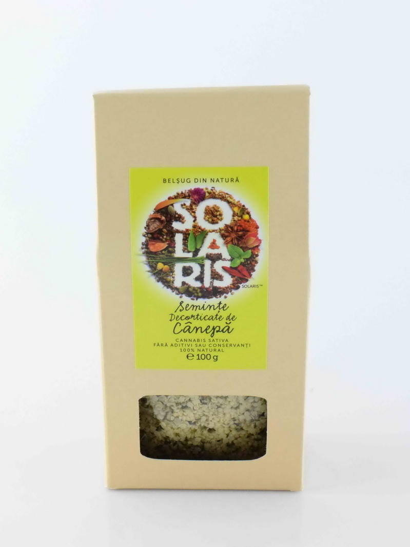 Seminte decorticate de canepa Solaris 100 g