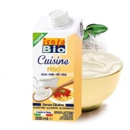 Crema bio din orez pentru gatit Isola Bio 200ml