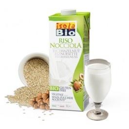 Bautura bio din orez cu alune Isola Bio 1L (fara gluten, fara zahar, fara lactoza)