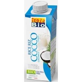Bautura bio din orez si nuca de cocos Isola Bio 250ml (fara lactoza, fara gluten)