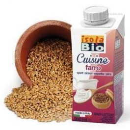 Crema bio din spelta pentru gatit Isola Bio 200ml