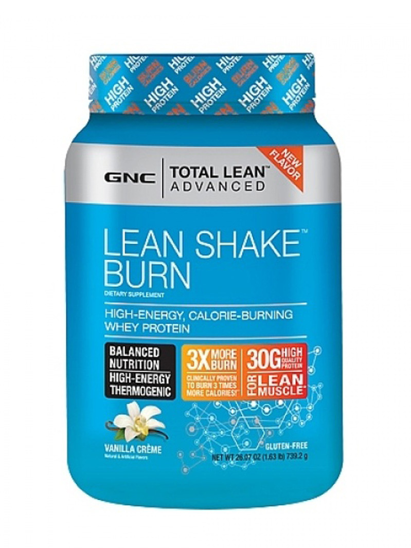 GNC Total Lean Advanced Lean Shake Burn - cu aroma de vanilie 739.2 g
