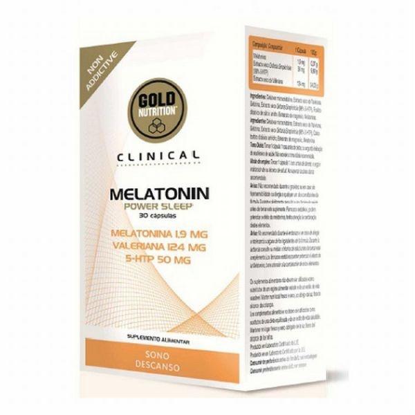 GoldNutrition clinical melatonin power sleep 30 cps buc econutraceuticos