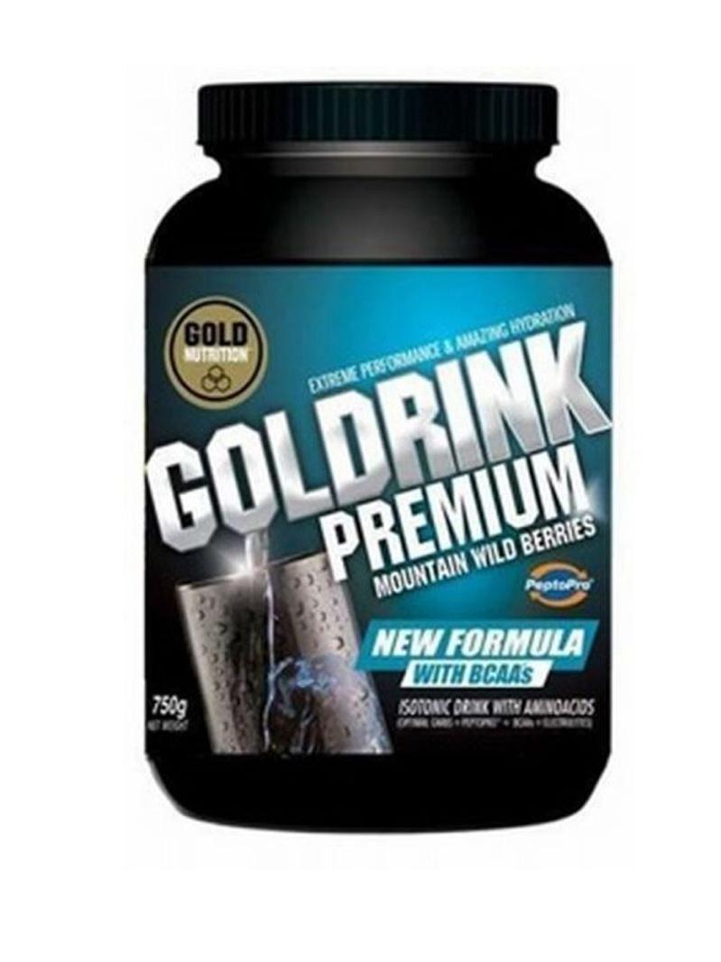 GoldNutrition Goldrink Premium + BCAA`s fructe de padure 750 g