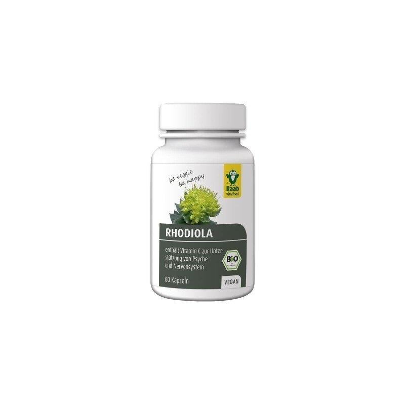 Rhodiola rosea bio 550mg, 60 capsule vegane RAAB