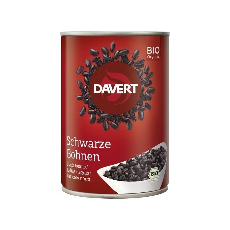 Fasole neagra bio conserva 400g DAVERT