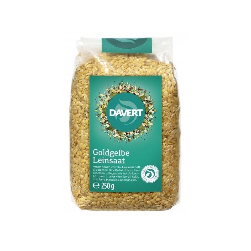 Seminte de in aurii bio 250g DAVERT