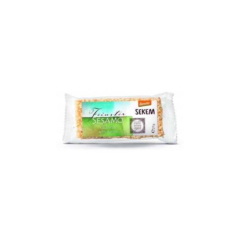 Baton de susan cu quinoa bio Demeter 27g SEKEM