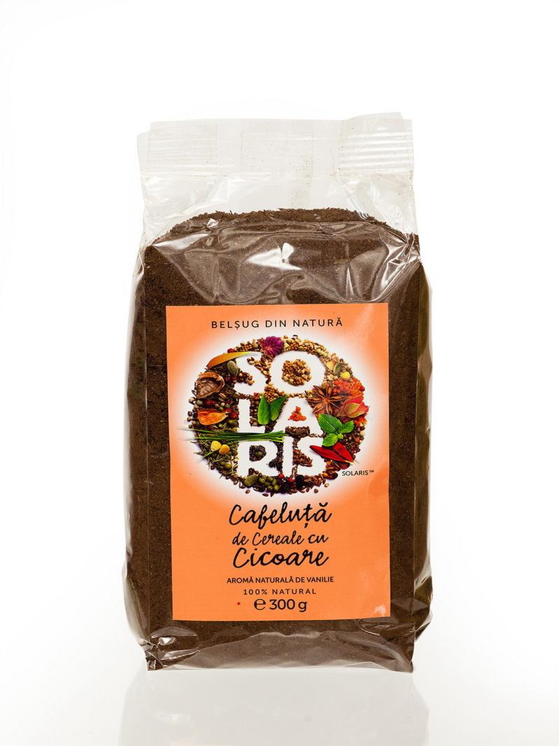 Cafeluta de cereale si cicoare cu aroma vanilie Solaris 300 g