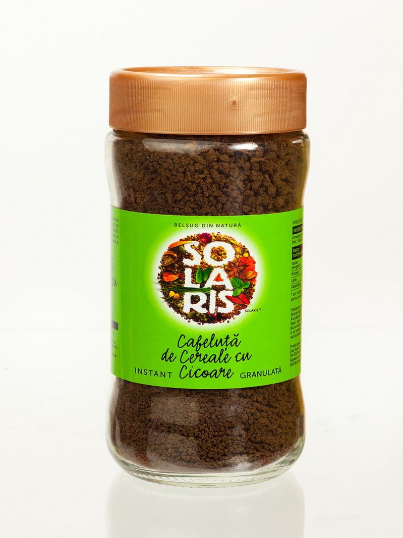 Cafeluta de cereale si cicoare borcan Solaris 100 g