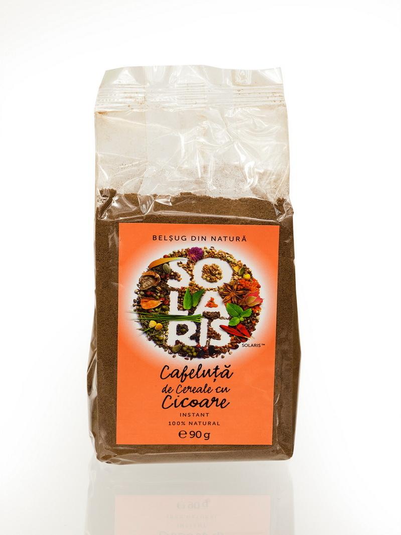 Cafeluta de cereale si cicoare instant punga Solaris 90 g