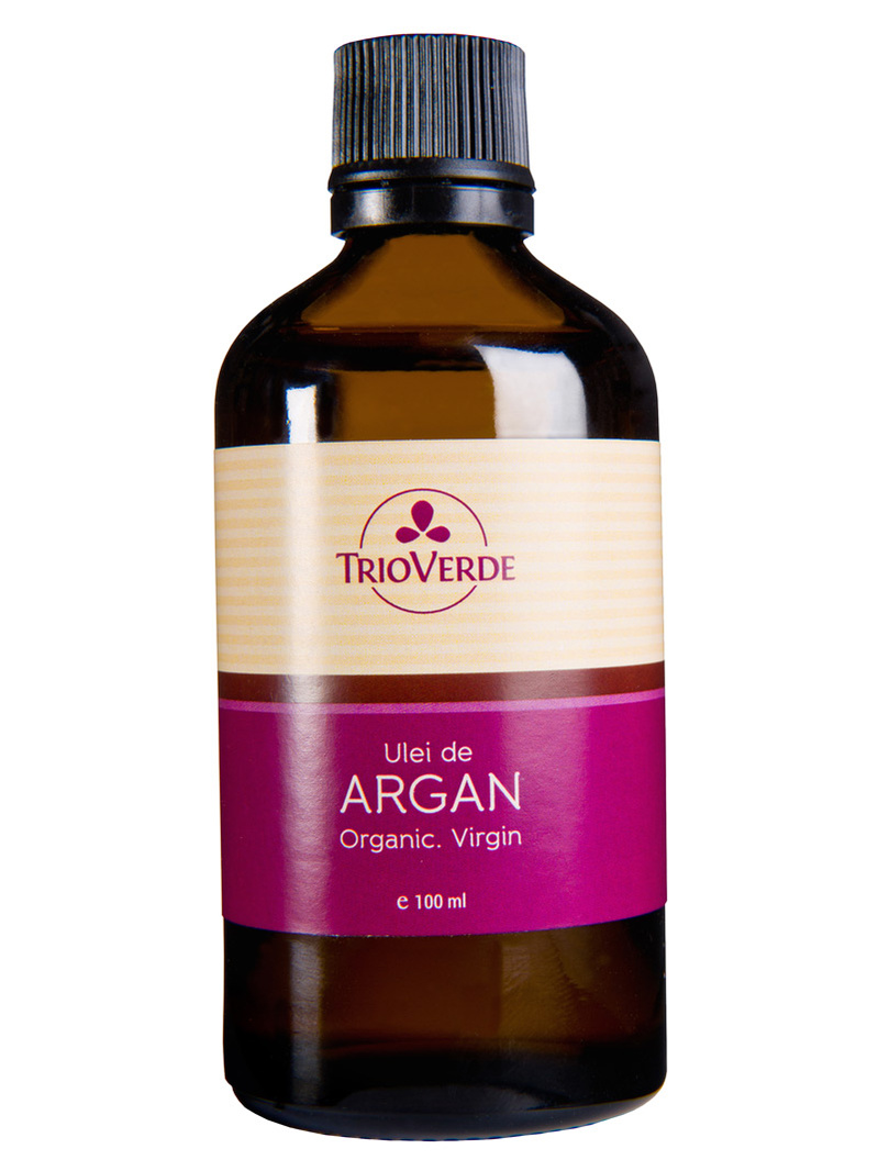 Ulei de argan bio, virgin Trio Verde 100 ml picurator
