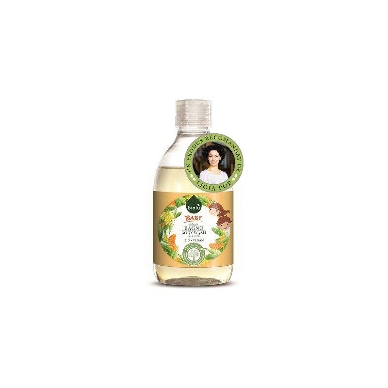 Gel de dus ecologic cu ulei de mandarin pentru copii 300ml 1 + 1 Gratis