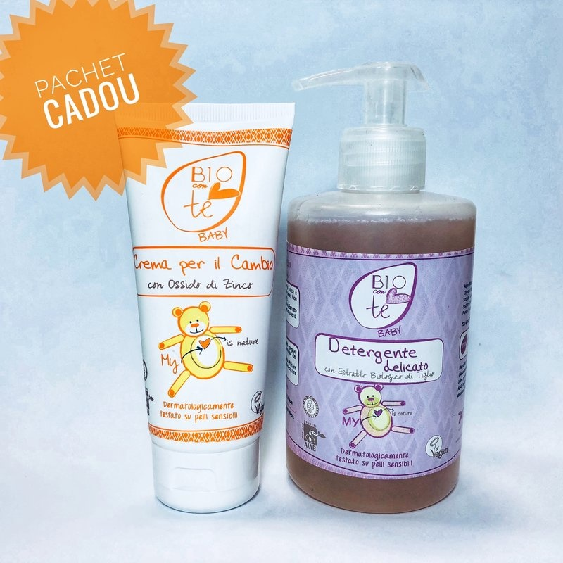 Pachet cadou sapun lichid + crema iritatie scutec Bioconte baby
