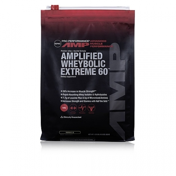 GNC Pro Performance AMP Amplified Wheybolic Extreme 60 - Vanilie 553 g