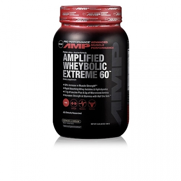 GNC Pro Performance AMP Amplified Wheybolic Extreme 60 - Biscuiti si frisca 1364 g