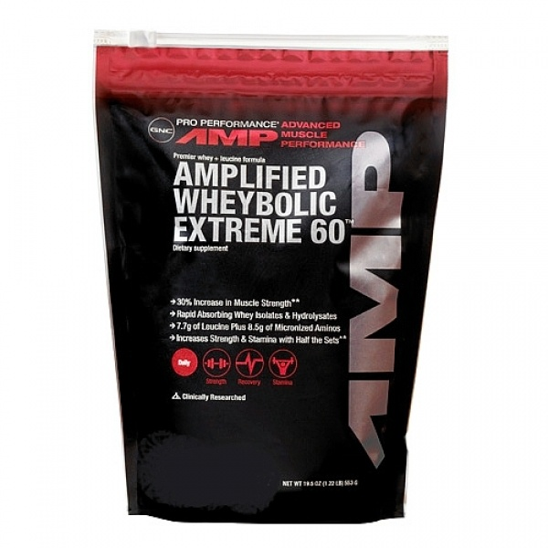 GNC Pro Performance AMP Amplified WheyBolic Extreme 60 - Biscuiti si frisca 553 g