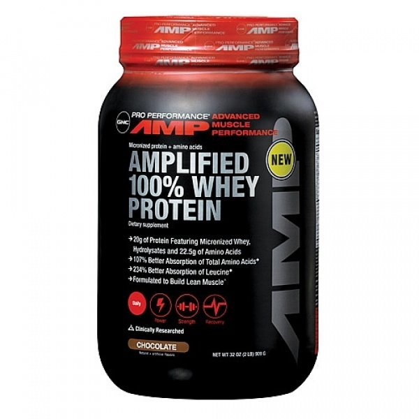 GNC Pro Performance AMP Amplified 100% Proteina Micronizata si Hidrolizata din zer-Ciocolata 909 g