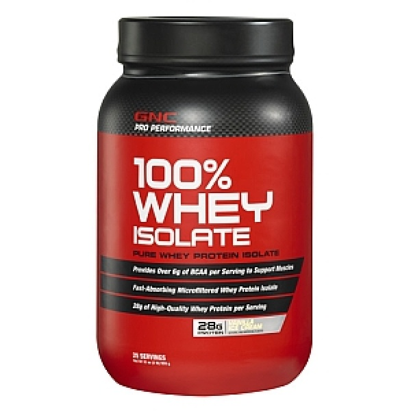 GNC Pro Performance 100% Izolat Proteic din zer-Vanilie   909 g