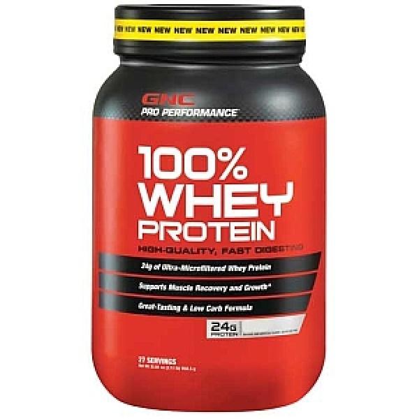 GNC Pro Performance 100% Proteina din zer cu aroma de vanilie 918 g