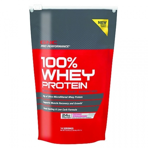 GNC Pro Performance 100 Whey Protein - Strawberry 454 g