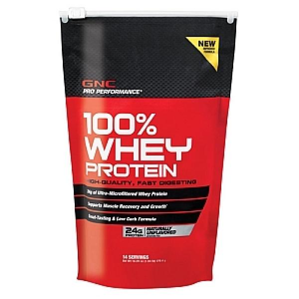 GNC Pro Performance 100% Proteina din zer-Fara aroma 470.4 g