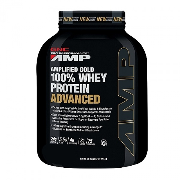 GNC PRO PERFORMANCE AMP AMPLIFIED GOLD 100% PROTEINA DIN ZER ADVANCED - BISCUITI SI FRISCA 2325 g