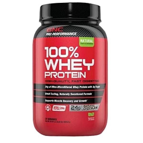 GNC Pro Performance 100% Proteina din zer - aroma naturala de ciocolata 1031.4 g