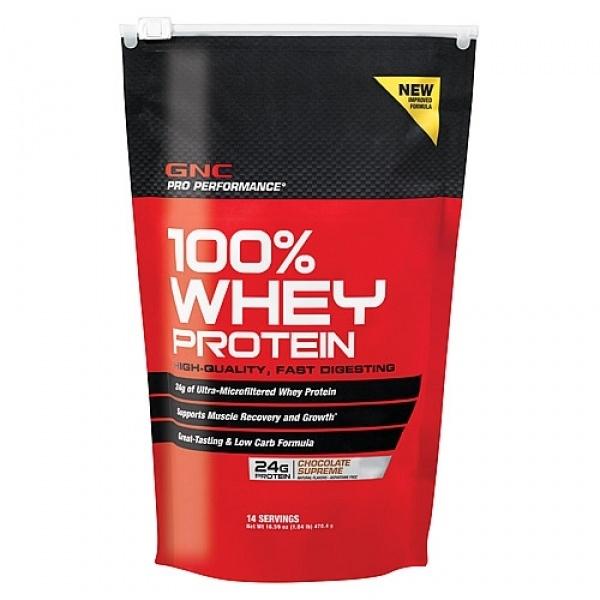 GNC Pro Performance 100% Proteina din zer cu aroma de ciocolata 497 g
