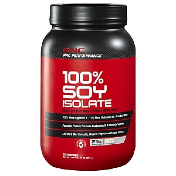 GNC Pro Performance 100% Izolat proteic din soia-Vanilie 1056 g