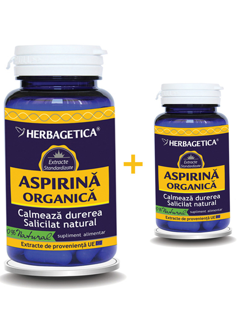 Aspirina organica Herbagetica 60 si 10 grame gratis