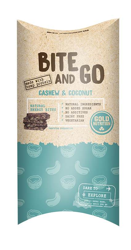 GOLDNUTRITION GUSTARE BITE AND GO  CAJU SI COCOS 40X10G
