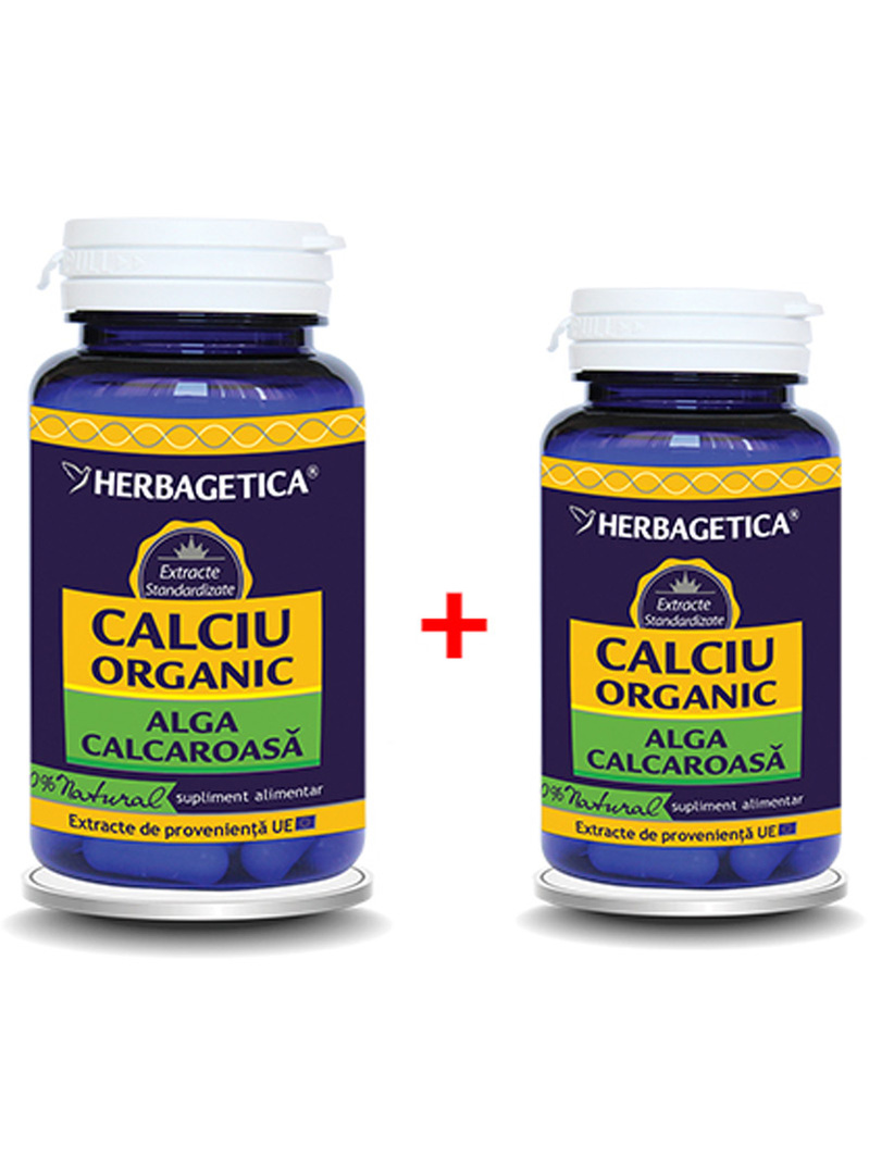 Calciu organic 70 capsule + 30 capsule gratis