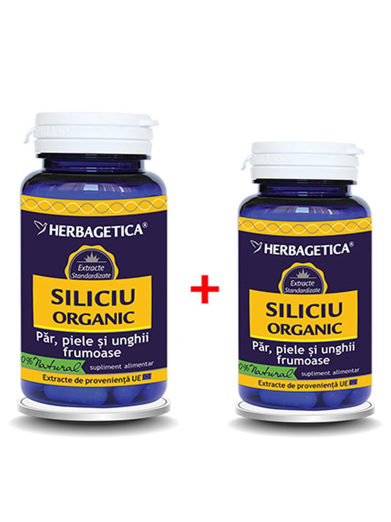 Pachet Siliciu organic Herbagetica 60 + 30 grame gratis