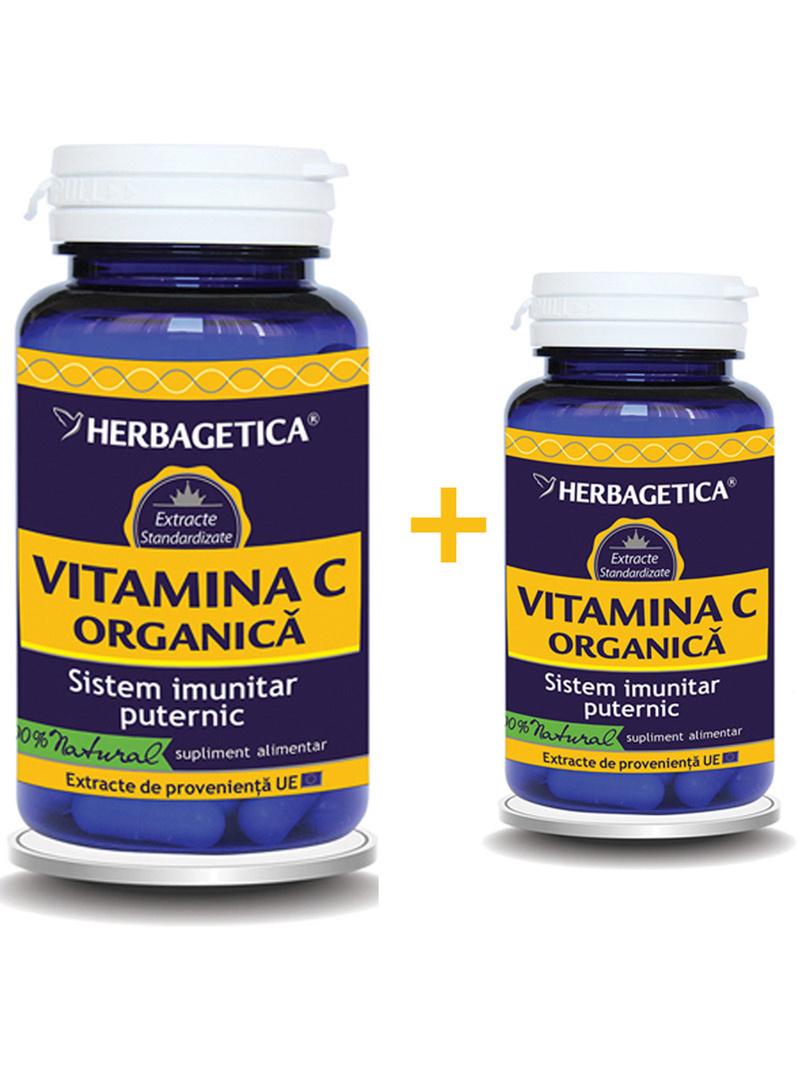 Vitamina C organica Herbagetica 60 + 10 grame gratis