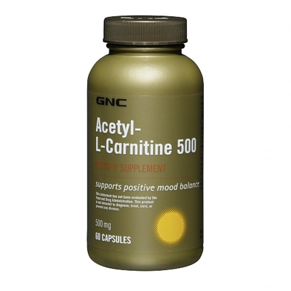 GNC Acetil-L-Carnitina 500 mg 60 cps