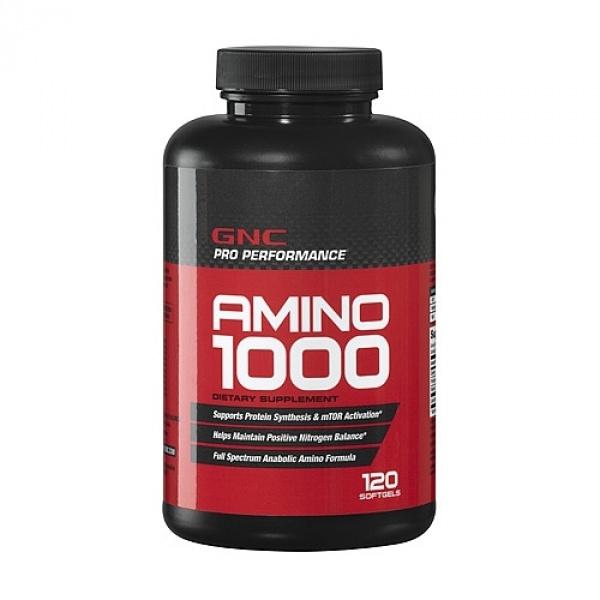 GNC Pro Performance Amino 1000 120 cps gelatinoase moi