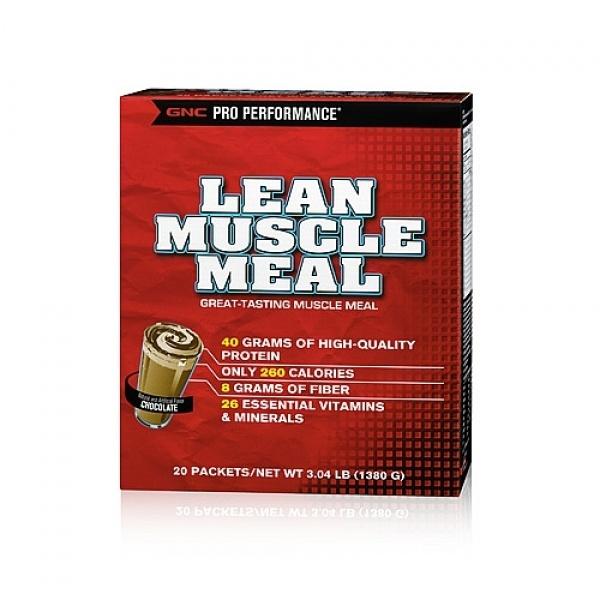 GNC Pro Performance Lean Muscle Meal Chocolate 20 plicuri