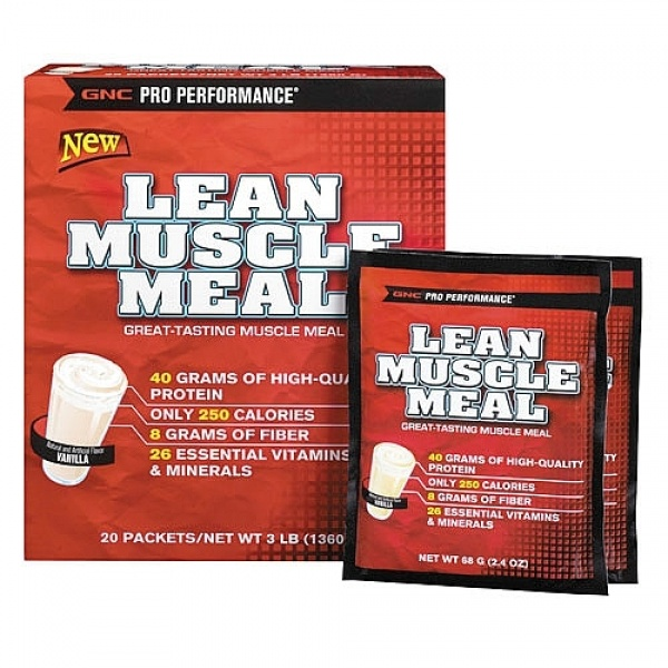 GNC Pro Performance Lean Muscle Meal Vanilla 20 plicuri