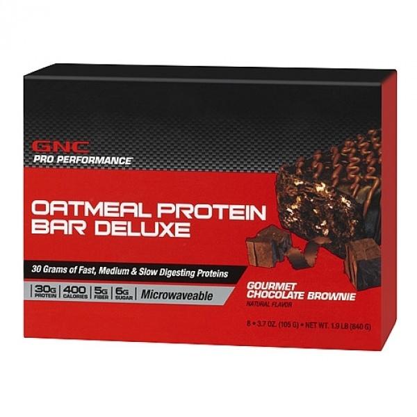 GNC Pro Performance Deluxe - Baton Proteic cu fulgi de ovaz- Aroma de prajitura cu ciocolata 105 g