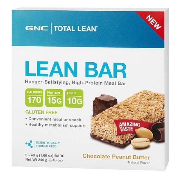 GNC Total Lean Baton Proteic cu fibre - unt de arahide si ciocolata 48 g