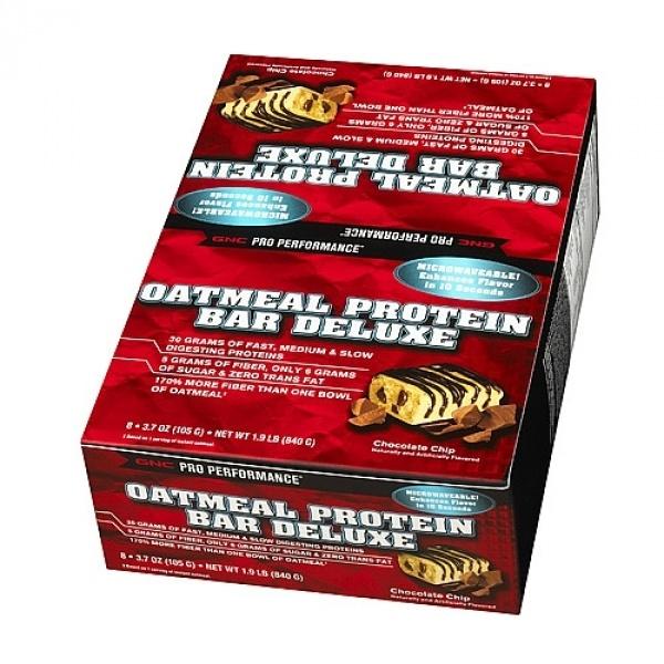 GNC Pro Performance Deluxe-Baton proteic cu fulgi de ovaz si bucati de ciocolata 105 g