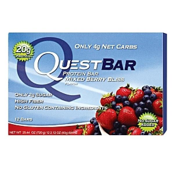 Quest Baton Proteic cu aroma de fructe de padure 60 g