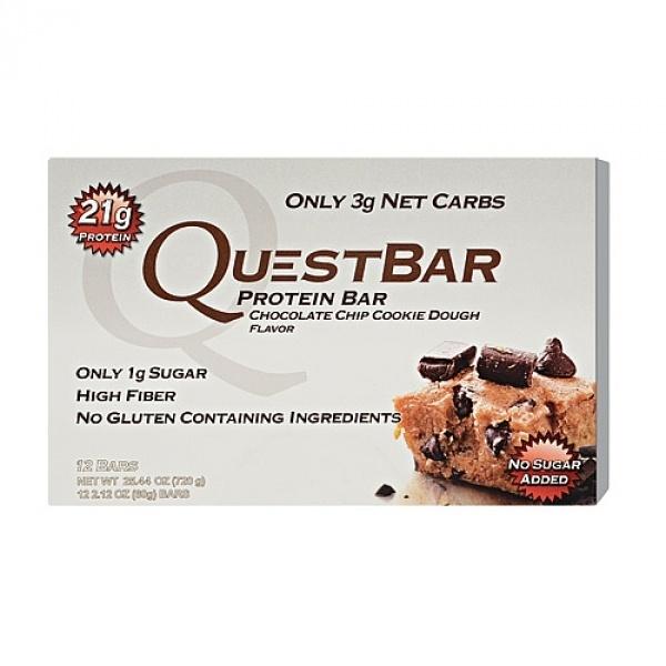 Quest Baton Proteic cu aroma de prajitura cu fulgi de ciocolata 60 g