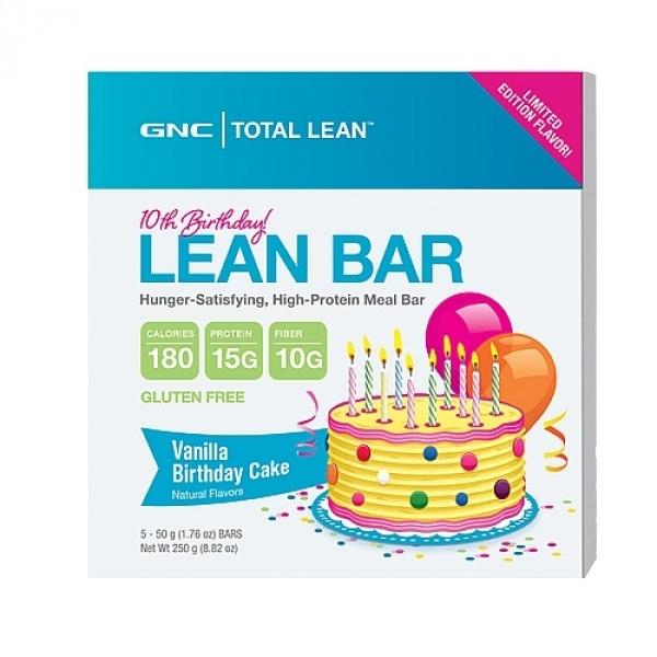 GNC Total Lean Baton Proteic cu fibre-Aroma de tort de vanilie 60 g