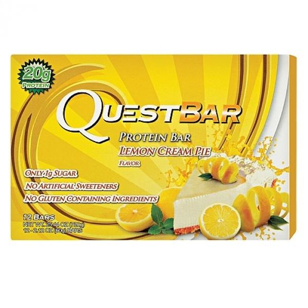 Quest Baton Proteic cu aroma de placinta cu crema de lamaie 60 g
