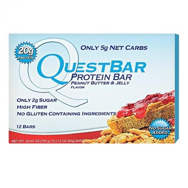 Quest Baton Proteic cu aroma de unt de arahide si jeleu 60 g