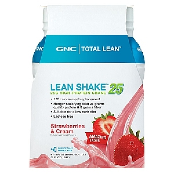 GNC Total Lean Shake Proteic Gata Pregatit-Aroma de capsuni 414 ml
